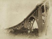 桥梁照片葡萄酒 免版税图库摄影