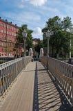 桥梁狮子彼得斯堡s st 免版税库存照片