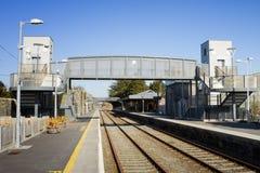 桥梁现代在铁路旋转门 图库摄影