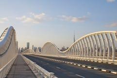 桥梁现代的迪拜 免版税图库摄影