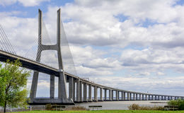 桥梁瓦斯科・达伽马,里斯本 库存照片