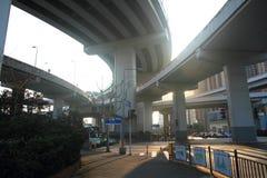 桥梁瓷nanpu上海暂挂 图库摄影