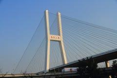 桥梁瓷nanpu上海暂挂 免版税库存图片