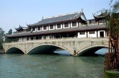 桥梁瓷sandaoyan yanqiao 库存照片