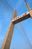 桥梁电缆坚持 库存图片