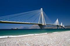 桥梁电缆希腊坚持 免版税库存图片