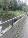 桥梁的楼梯栏杆 免版税库存照片