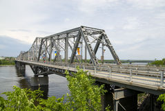 桥梁省际的渥太华 库存图片