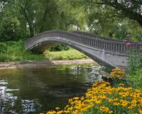 桥梁石头 库存图片
