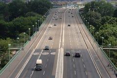 桥梁科隆香水德国莱茵河流域 库存照片