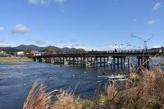 桥梁穿过河 免版税图库摄影