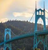 桥梁约翰・俄勒冈波特兰s st美国 免版税库存照片