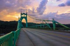 桥梁约翰・俄勒冈波特兰s st美国 免版税库存图片