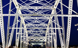 桥梁纳稀威步行者 免版税库存图片