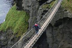 桥梁绳索 免版税库存照片