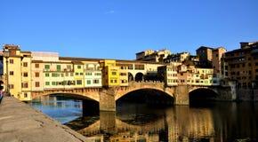 桥梁老佛罗伦萨 库存照片