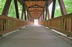 桥梁老木头 图库摄影