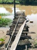 桥梁老木头 免版税库存照片