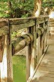 桥梁老木 库存照片