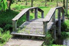 桥梁老横跨运河 免版税库存照片