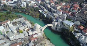 桥梁老莫斯塔尔 免版税库存图片