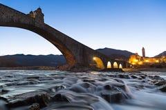桥梁老超出河 库存照片