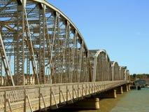 桥梁老钢时间 库存图片