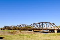 桥梁老钢 库存照片