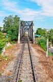 桥梁老铁路 免版税库存照片