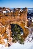 桥梁自然bryce的峡谷 库存图片