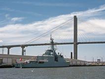 桥梁船 库存照片