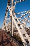 桥梁荷兰语老零件桁架 库存图片