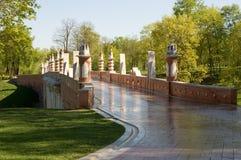 桥梁莫斯科tsaritsino 免版税库存照片