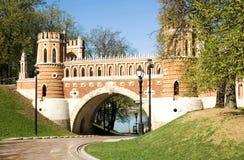 桥梁莫斯科tsaritsino 库存照片