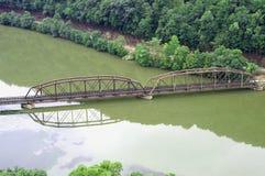 桥梁菲耶特韦尔岗位 免版税库存照片