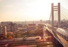 桥梁视图 库存图片