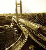 桥梁视图 免版税库存照片