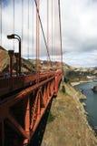 桥梁详述金黄的门 库存图片