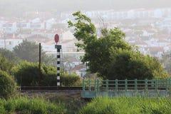 桥梁路轨 免版税库存照片