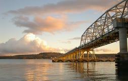 桥梁运河敞篷 库存照片