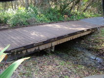 桥梁连接足迹 库存照片