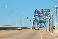 桥梁钢桁架 库存照片