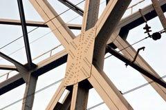 桥梁钢部件 免版税库存照片
