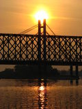 桥梁铁路 免版税库存图片
