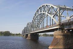桥梁铁路 免版税库存照片