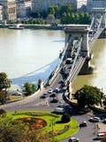 桥梁链子 库存照片