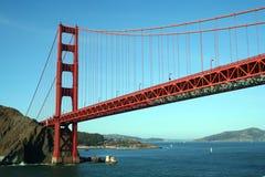 桥梁门金黄下面 库存照片