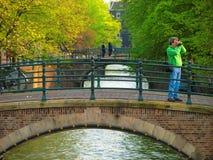 桥梁阿姆斯特丹 免版税图库摄影