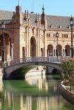 桥梁陶瓷de西班牙广场塞维利亚西班牙 库存图片