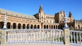 桥梁陶瓷de西班牙广场塞维利亚西班牙 库存照片